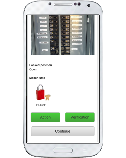 Record each lockout/tagout directly from your smartphone or tablet
