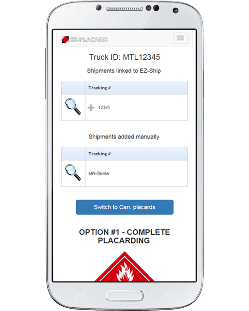 View all the dangerous goods inside your vehicle in real-time